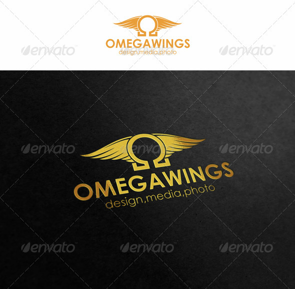 Omega Wings - Symbols Logo Templates