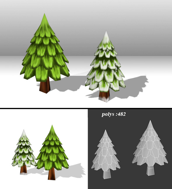 3DOcean Christmas Tree low poly 3335804