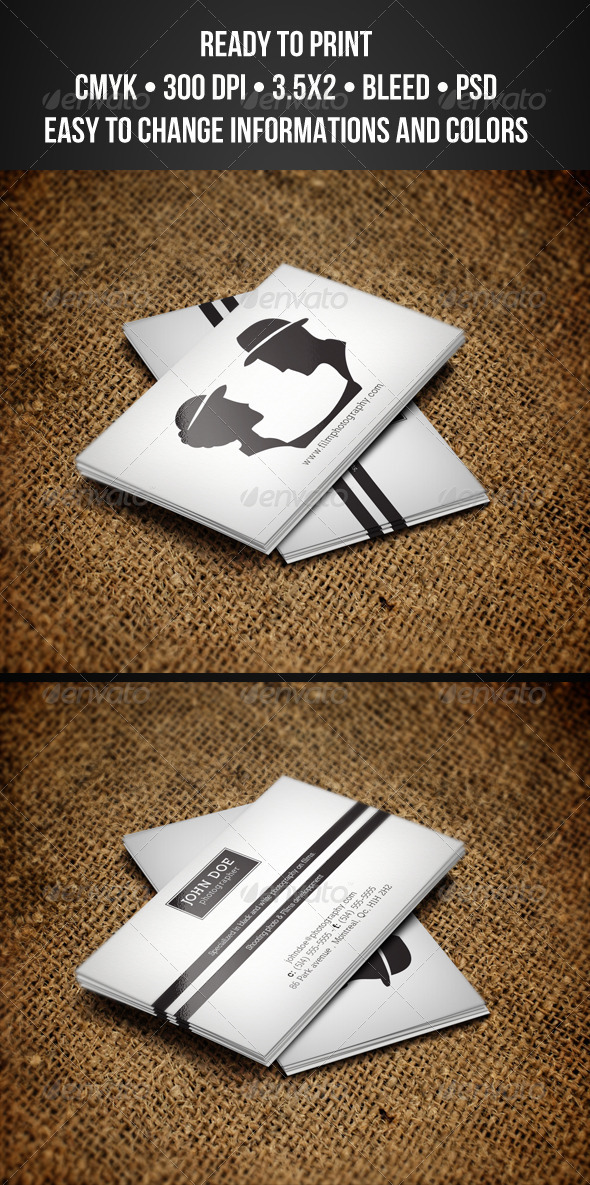 GraphicRiver Photography Business Cards 3323547