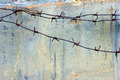 Barbed Wire Against Grunge Metal Background - PhotoDune Item for Sale