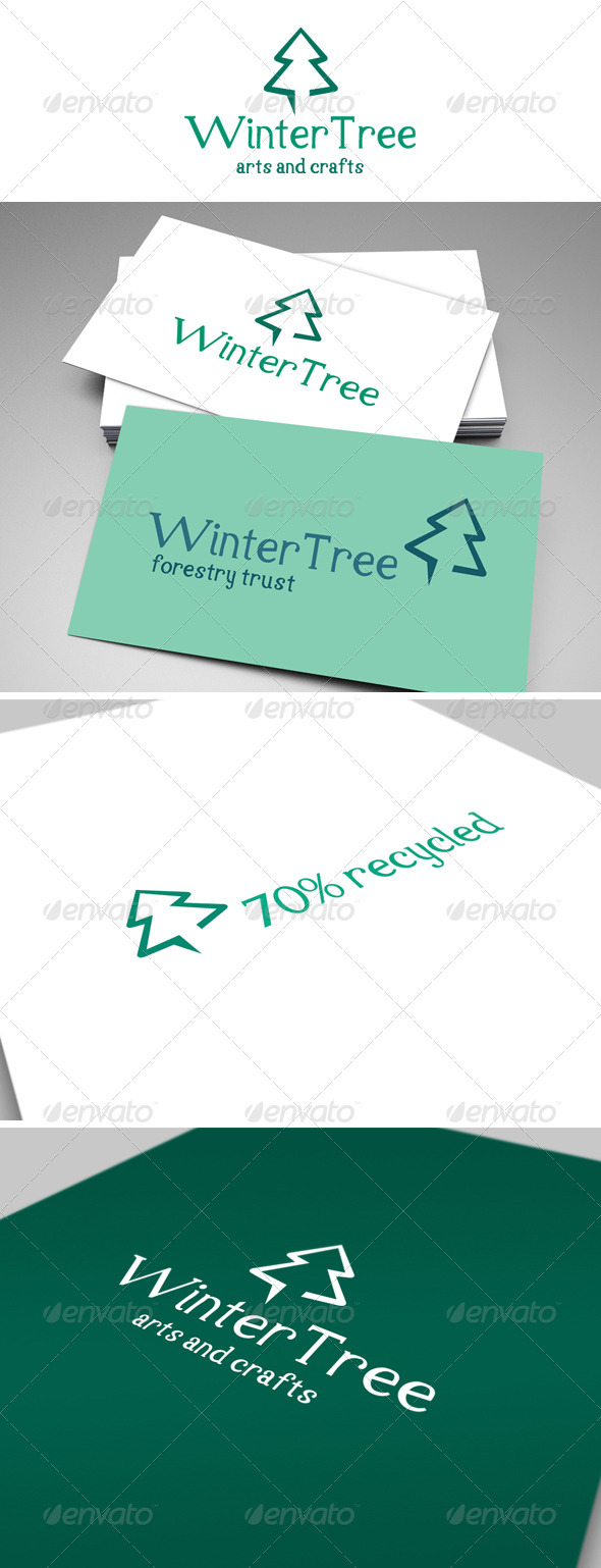 Winter Tree Logo - Nature Logo Templates