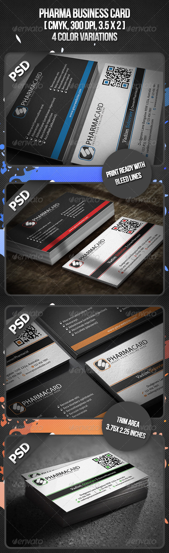 Pharma Business Card - Corporate Business Cards