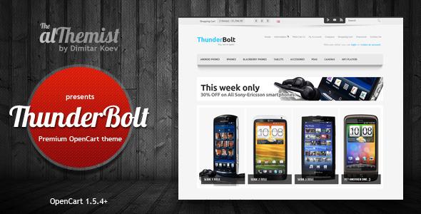 ThemeForest Thunderbolt premium OpenCart theme 3336604