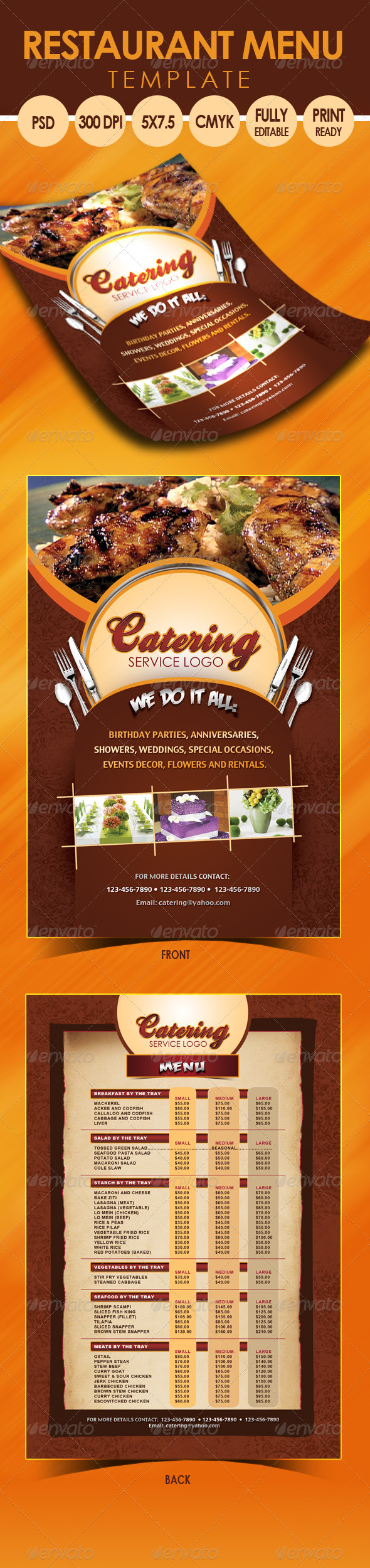GraphicRiver Catering Menu Template Flyer 3318145