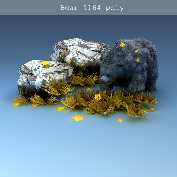 3DOcean Low-poly Bear 3337059