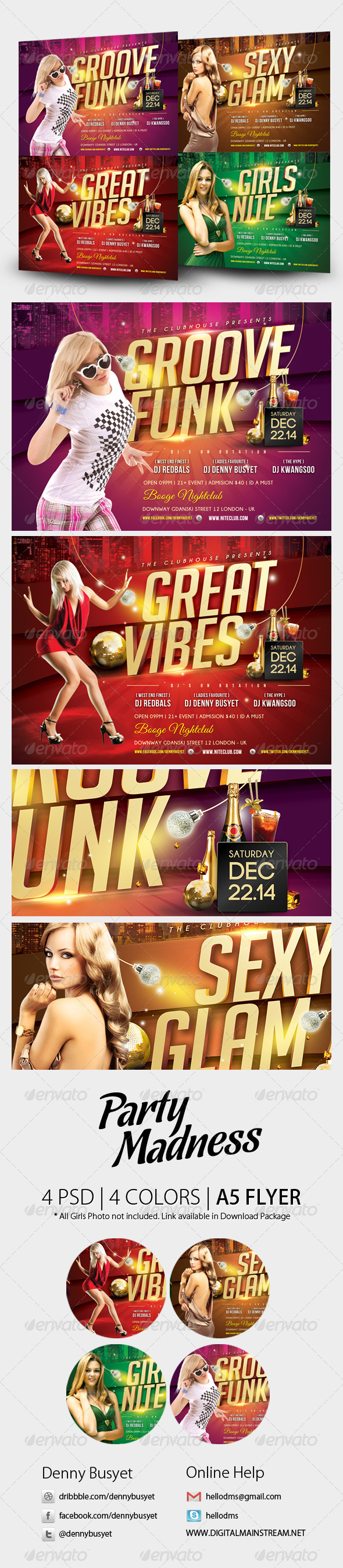 Party Madness Nightclub Psd Flyer Template - Events Flyers