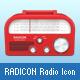 Radicon Radio Icon - GraphicRiver Item for Sale