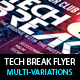 Tech Breaks Flyer Template -Graphicriver中文最全的素材分享平台