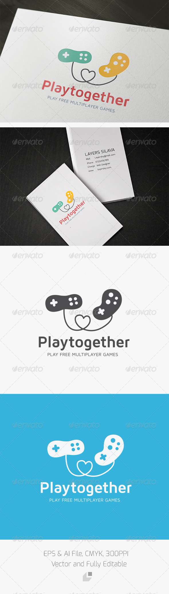 GraphicRiver Play together Logo 3337245