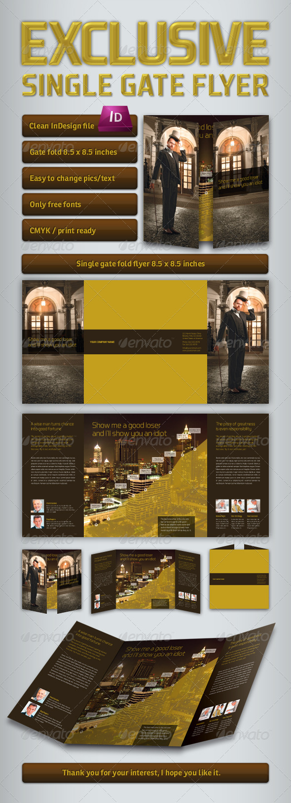 GraphicRiver Exclusive Single Gate Fold Flyer 3337577