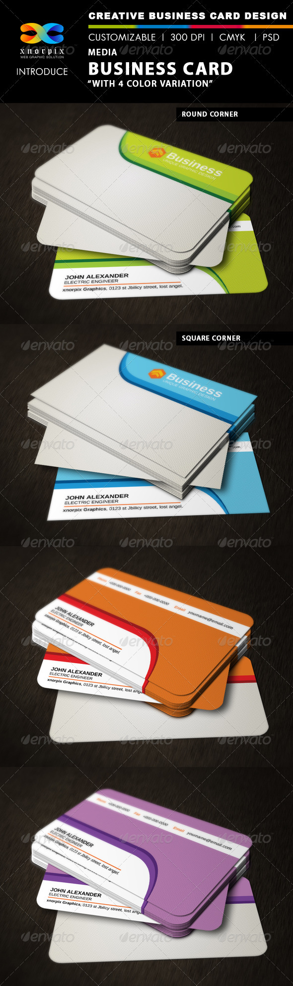 Media Business Card - Corporate Business Cards
