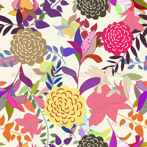 GraphicRiver Floral Seamless Pattern Set 3339136