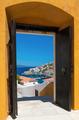 The island of Hydra, Greece, through an open door - PhotoDune Item for Sale