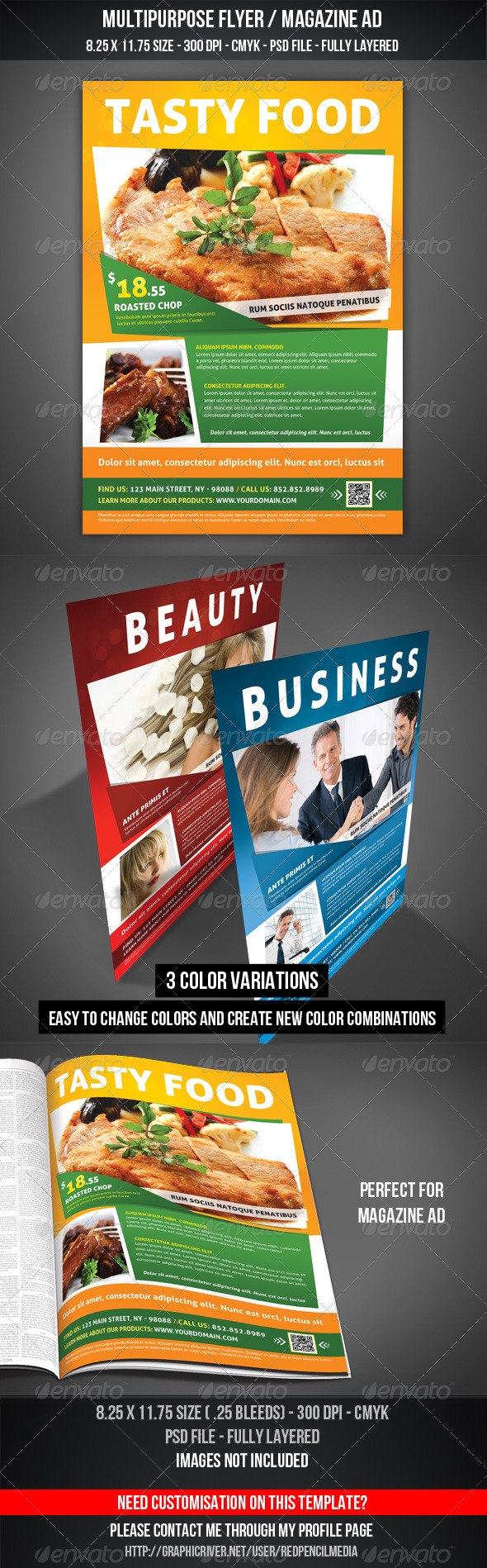GraphicRiver Multipurpose Flyer Magazine AD 3339668