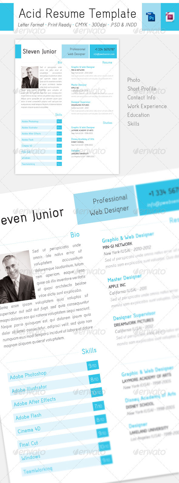 Acid Letter Resume | Modern Style - Resumes Stationery