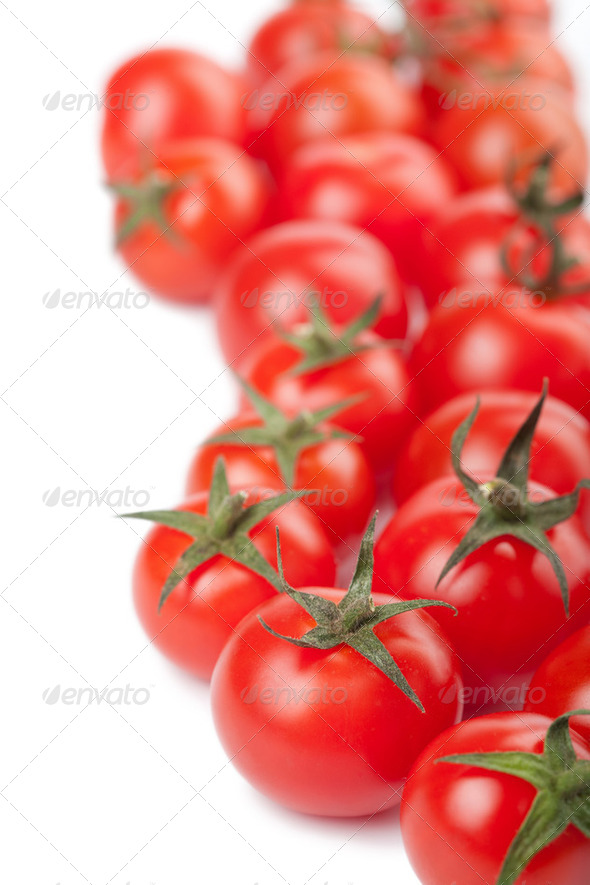 ripe tomatoes background isolated - Stock Photo - Images