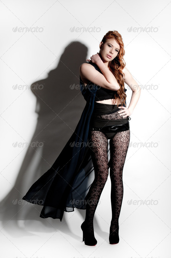 young red haired model - Stock Photo - Images