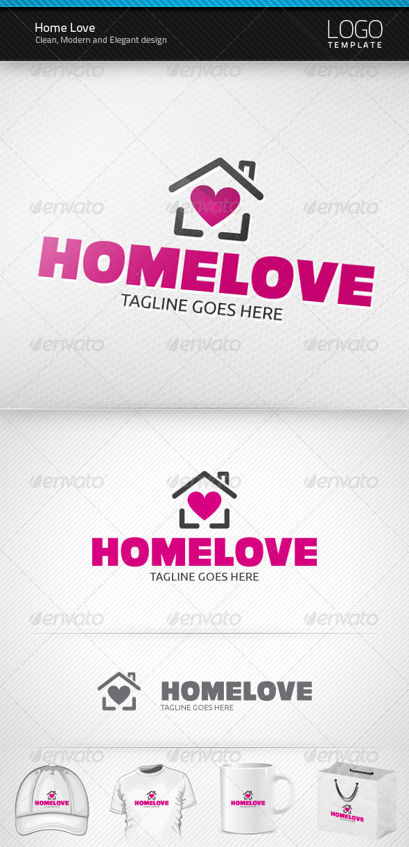 Home Love Logo - Buildings Logo Templates