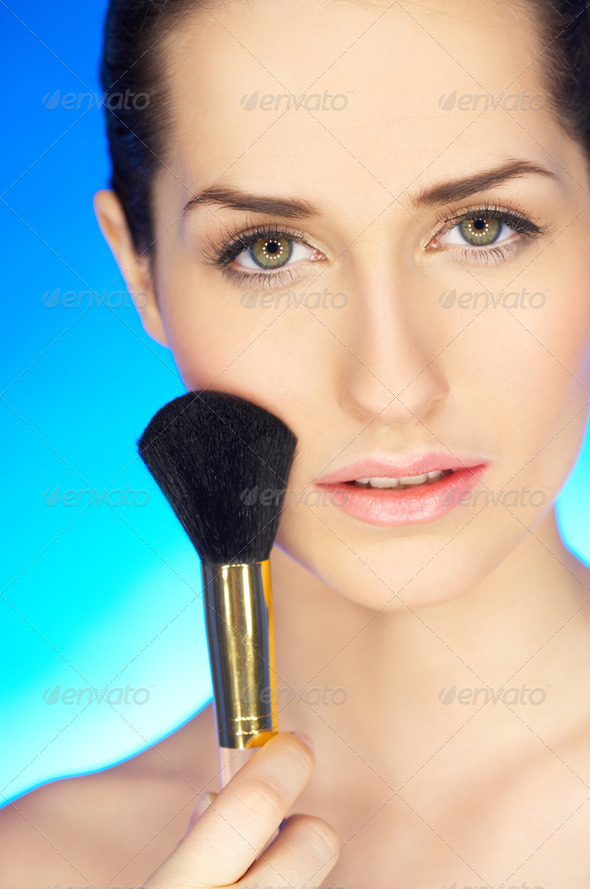 Cute on Blue - Stock Photo - Images