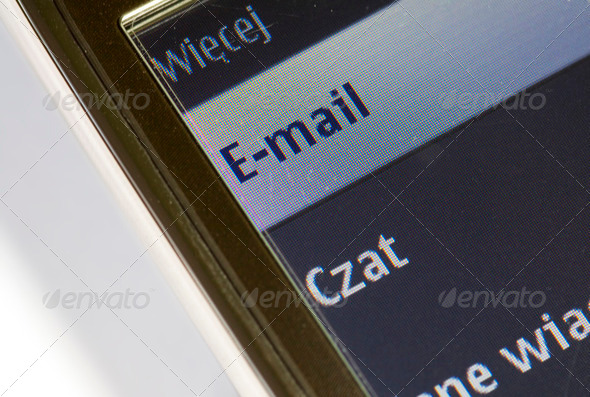 Mobile phone e-mail - Stock Photo - Images