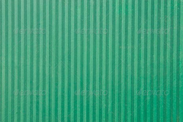 green surface of an old fence with vertical lines - Stock Photo - Images