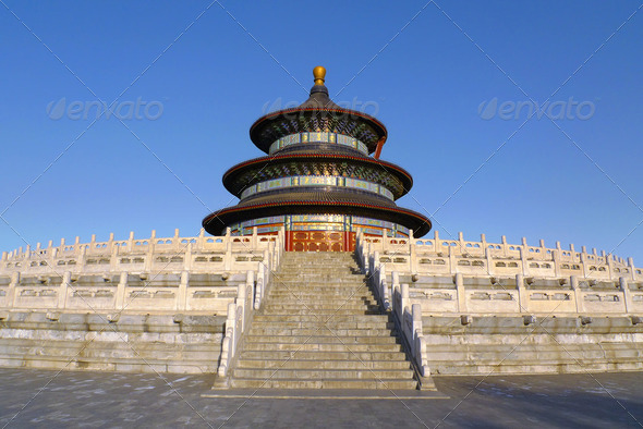 Temple of Heaven in Beijing China - Stock Photo - Images