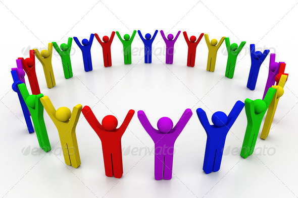 Colorful people - Stock Photo - Images