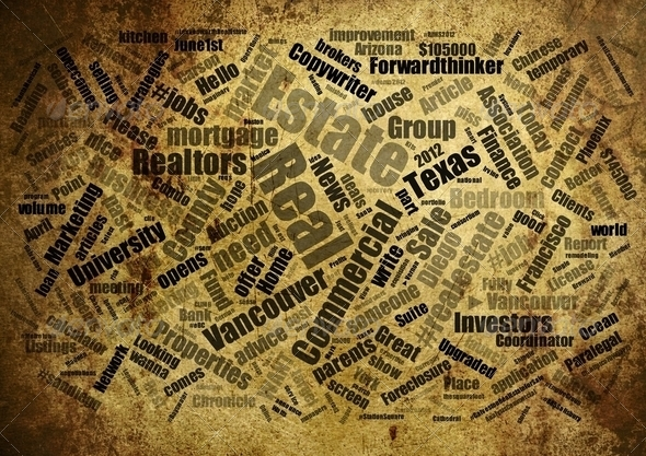 Real estate word cloud - Stock Photo - Images