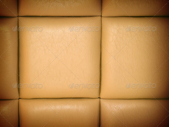 Tan Leather Upholstry Background with a Repetitive pattern - Stock Photo - Images