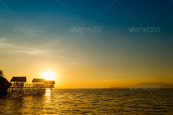 Beach Nipa Huts - Stock Photo - Images