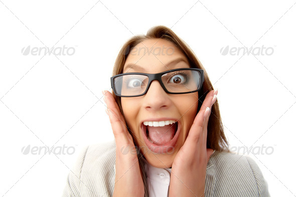 Funny business lady - Stock Photo - Images