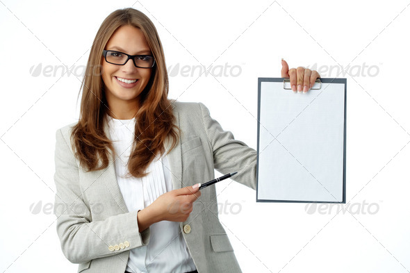 Blank of contract - Stock Photo - Images