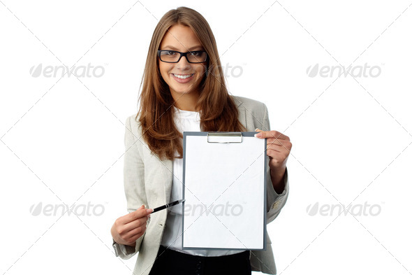 Sign here - Stock Photo - Images