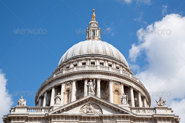 St. Paul Cathedral Dome - Stock Photo - Images