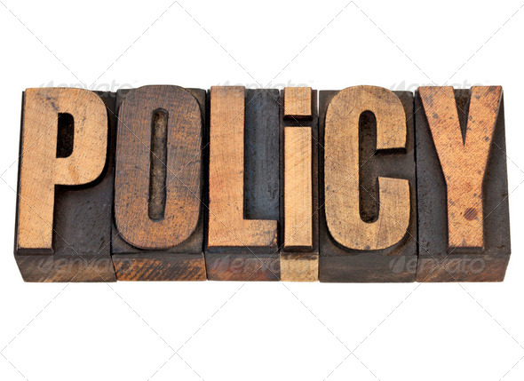 policy word in letterpress type - Stock Photo - Images