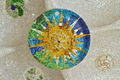 mosaic sun at Guell Park - PhotoDune Item for Sale