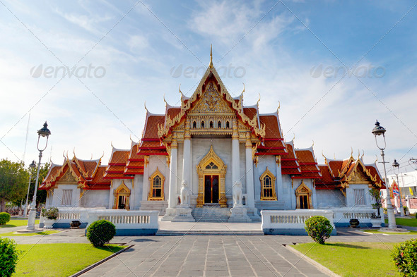 Marble temple - Stock Photo - Images