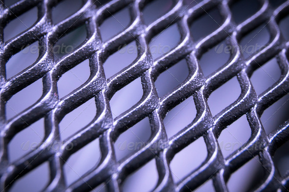 abstract metallic grid - Stock Photo - Images