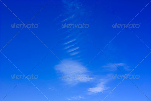 Ribbed Cloud Formation - Stock Photo - Images