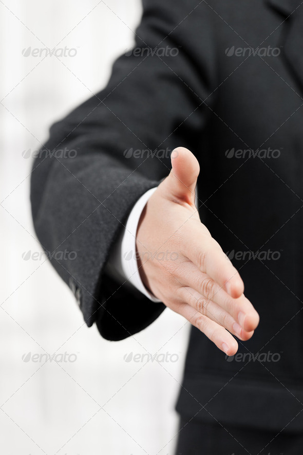 Business man handshake - Stock Photo - Images