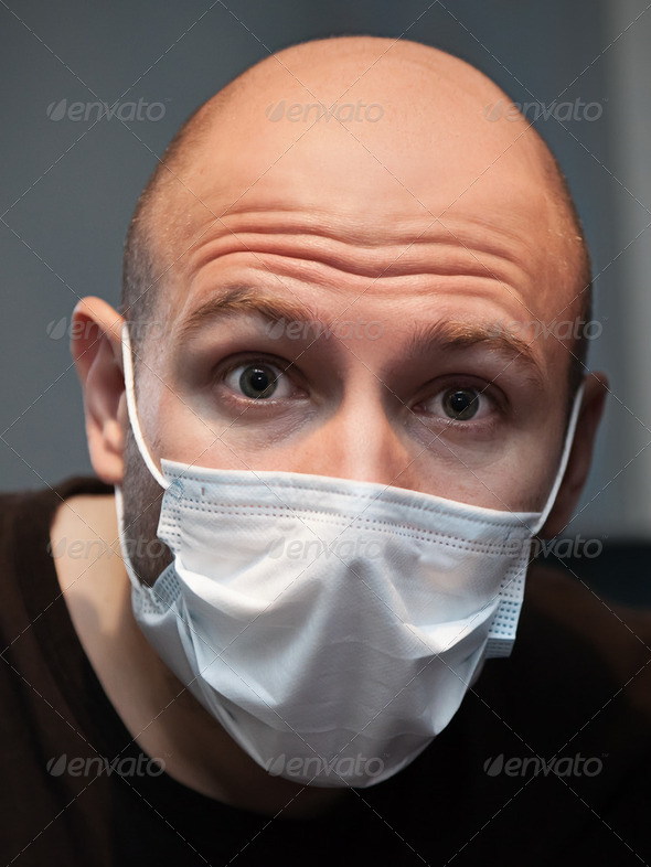 Man in medicine mask - Stock Photo - Images