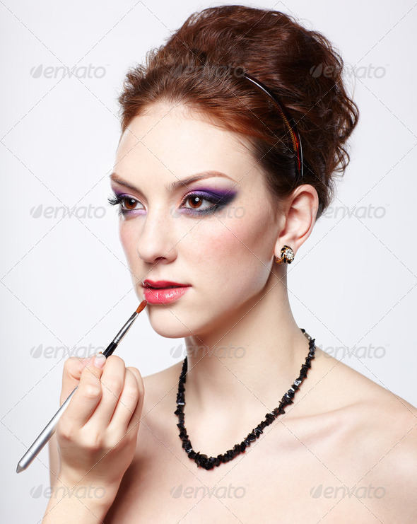 lips make up - Stock Photo - Images