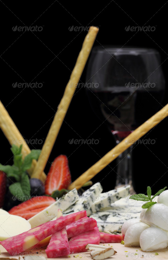 Gourmet cheese platter - Stock Photo - Images