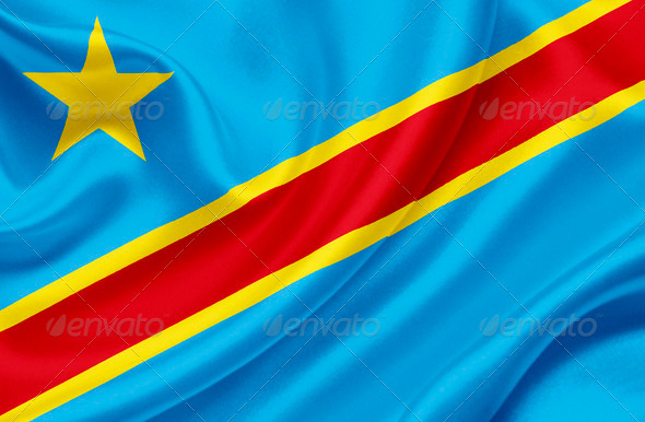 Democratic Republic of Congo waving flag - Stock Photo - Images