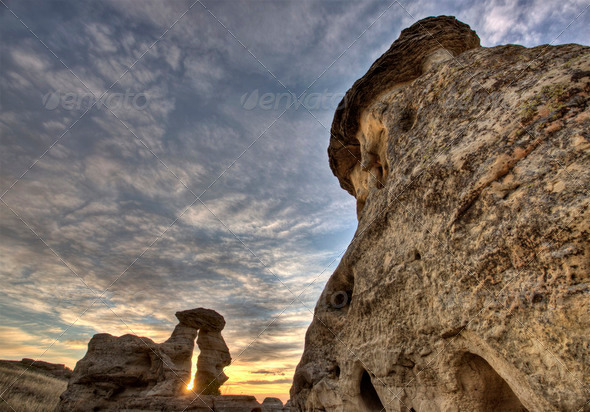 Hoodoo Badlands Alberta Canada - Stock Photo - Images