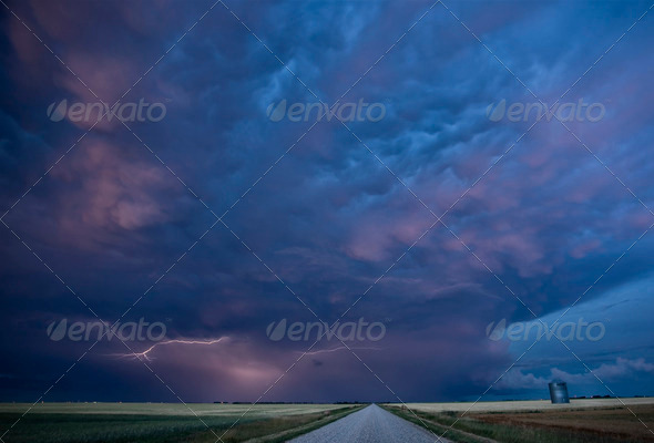 Night Lightning Canada - Stock Photo - Images