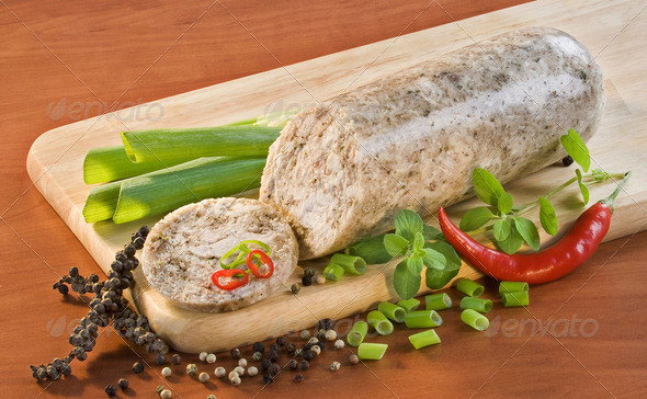 Chicken head cheese - Stock Photo - Images