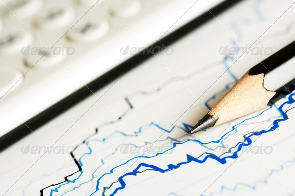 Financial Graphs - Stock Photo - Images