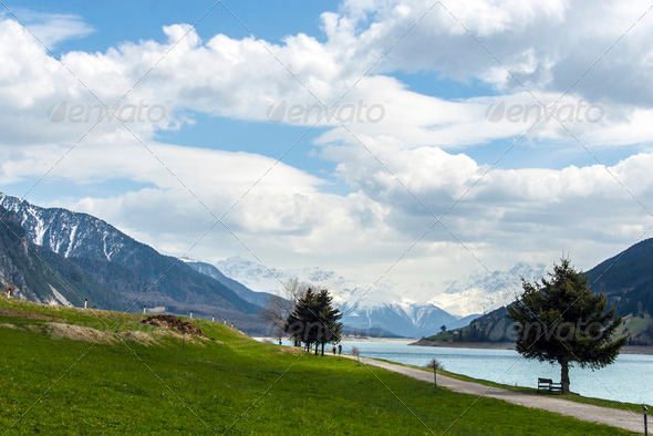 Sud Tirol Landscape - Stock Photo - Images