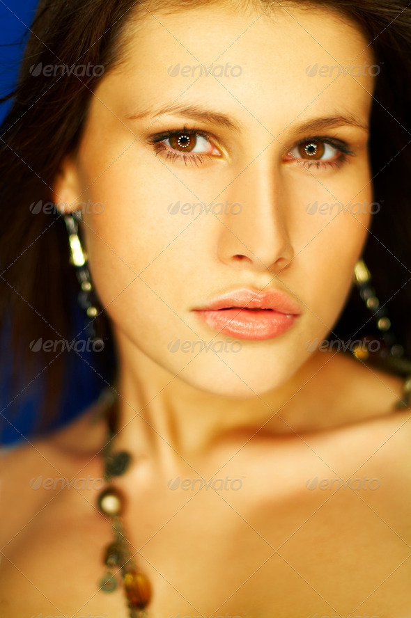 Sexy Brunette Portrait - Stock Photo - Images